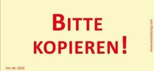 Bedruckte Haftnotiz - Bitte kopieren!  gelb/rot