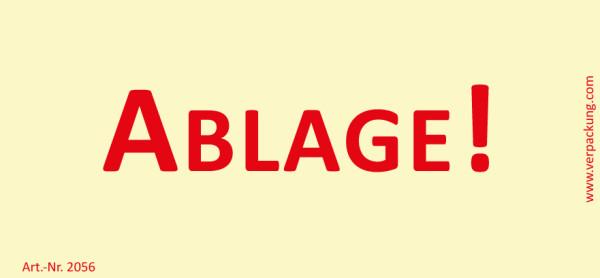 Bedruckte Haftnotiz - Ablage!  gelb/rot
