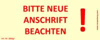 Bedruckte Haftnotiz - Bitte neue Anschrift beachten!  gelb/rot